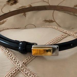 Skinny Black Belt by Talbots